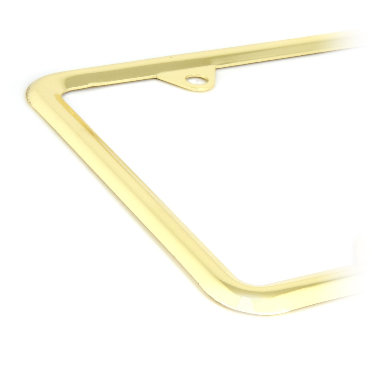 Grand General 60061 Chrome Plated Zinc Plain License Plate Frame with 4 Holes