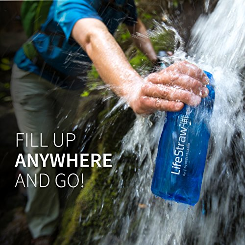 LifeStraw Go Water Filter Bottle with 2-Stage Integrated Filter Straw for Hiking, Backpacking, and Travel, Grey by LifeStraw (Image #3)