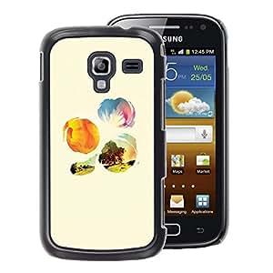 A-type Arte & diseño plástico duro Fundas Cover Cubre Hard Case Cover para Samsung Galaxy Ace 2 (Nature Sunshine Tree Field Flowers)