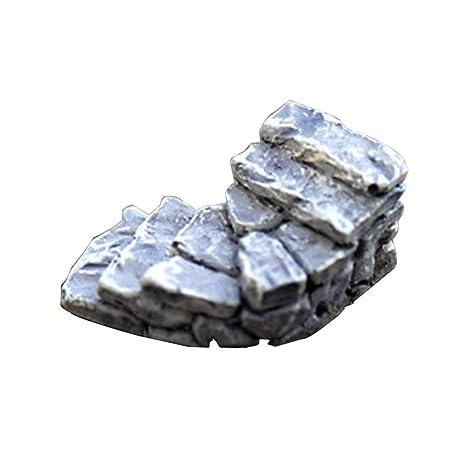 NPRADLA Miniatura de Piedra Curva Puente Escaleras Decoración para el hogar Hada Adorno Jardín