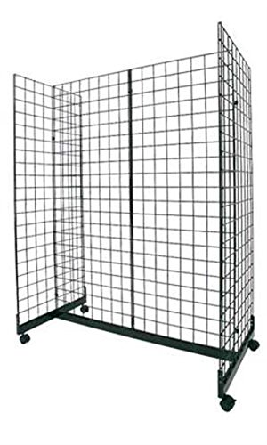 New Black Grid Gondola Includes Grid Panels, Base, Connectors 24''w X 48''l by Grid Gondola