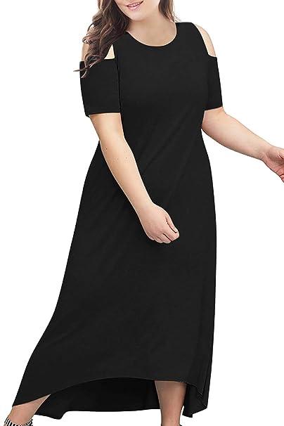 High Neck Casual Plus Size Maxi Dresses