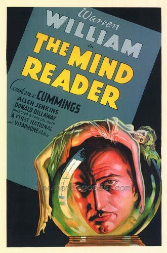 Amazon.com: The Mind Reader POSTER Movie (27 x 40 Inches - 69cm x 102cm) ( 1933): Posters & Prints