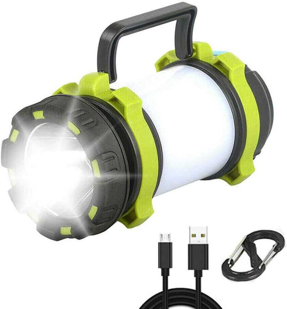 LE LED Outdoor Portable Camping Lantern IPX4+3000mAh Power Bank USB Rechargeable