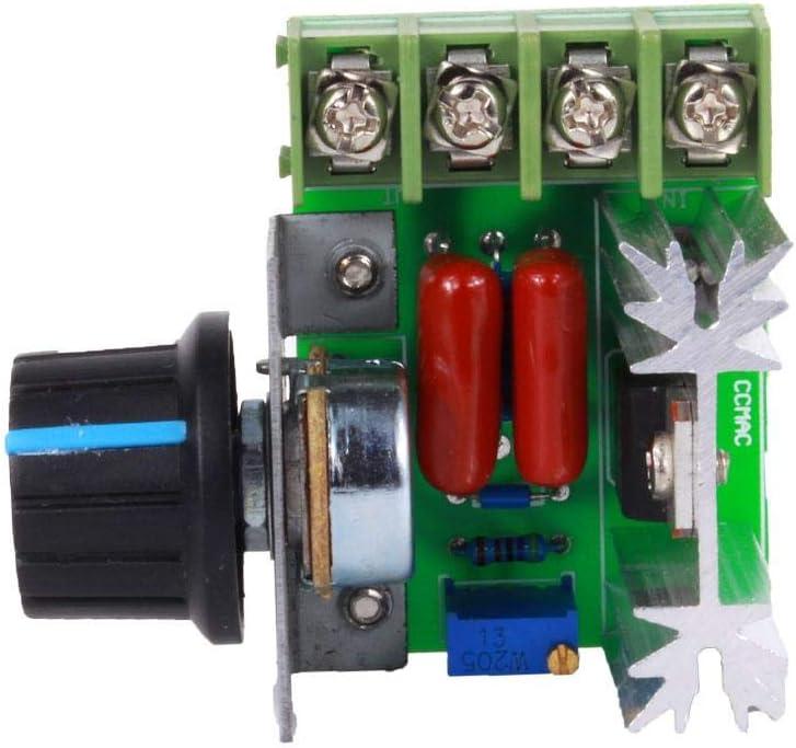 50-220V 25a Adjustable Voltage Regulator for Adjusting Dimming Thermostats Pressure Regulator Effect 2000W AC Motor Speed Controller