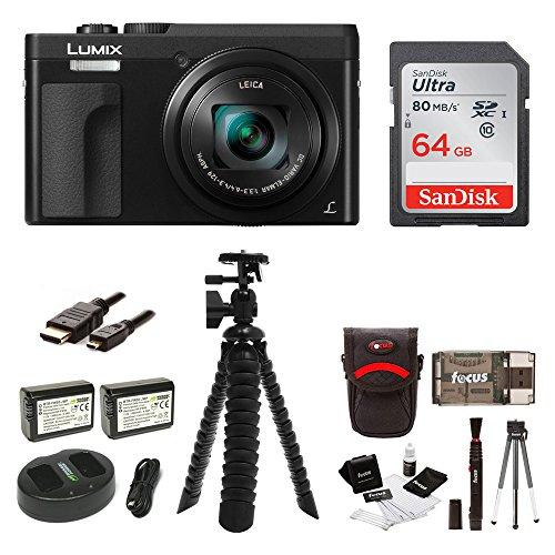 Panasonic DC-ZS70K Lumix 20.3MP, 4K Touch Enabled 3 LCD, 180 Degree Flip-Front Display, 30x Lens 64GB Bundle