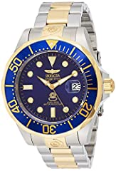 Invicta Men's 3049 Pro Diver Collection Grand Diver GT Automatic WatchGet ready for undersea discovery with this classically styled, two-tone Invicta Grand Diver GT stainless steel men's automatic watch, which features a confidence-boosting w...