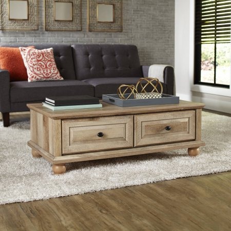 Crossmill Transitional Style 2 drawers with Metal Runners and Safety Stops Coffee Table, Weathered from Better Homes & Gardens