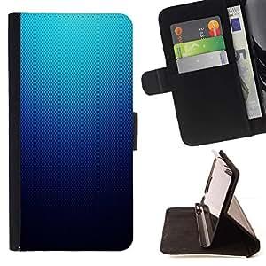 Momo Phone Case / Flip Funda de Cuero Case Cover - Modelo azul de malla;;;;;;;; - Motorola Moto E ( 2nd Generation )