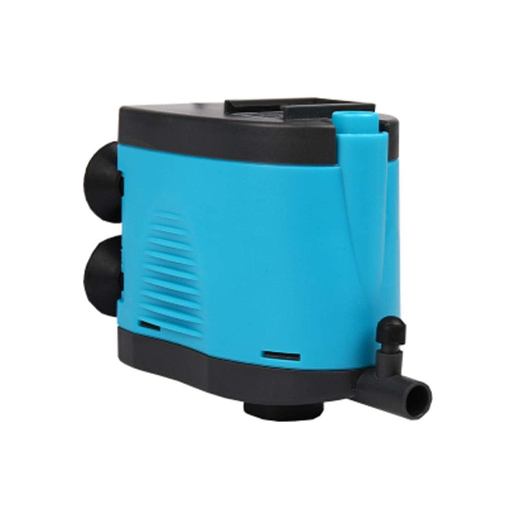LIFUREN Fish Tank Oxygen Pump Three-in-one Submersible Pump Filter Pump Very Silent with Oxygen Aquarium Pump (Color : Blue, Size : 15W)