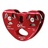 GM CLIMBING UIAA Certified Zipline Pulley Kit Speed Pulley / Trolley with Oval Carabiner Professional