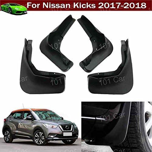 4PCS Fit For Nissan Kicks 2017 2018 ABS Plastics Mud Flaps Splash Guard Trim