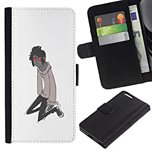 ZCell / Apple Iphone 6 PLUS 5.5 / Red Eyes Monster Cartoon Character Boy / Caso Shell Armor Funda Case Cover Wallet / Rojo Ojos Monster dibujo an