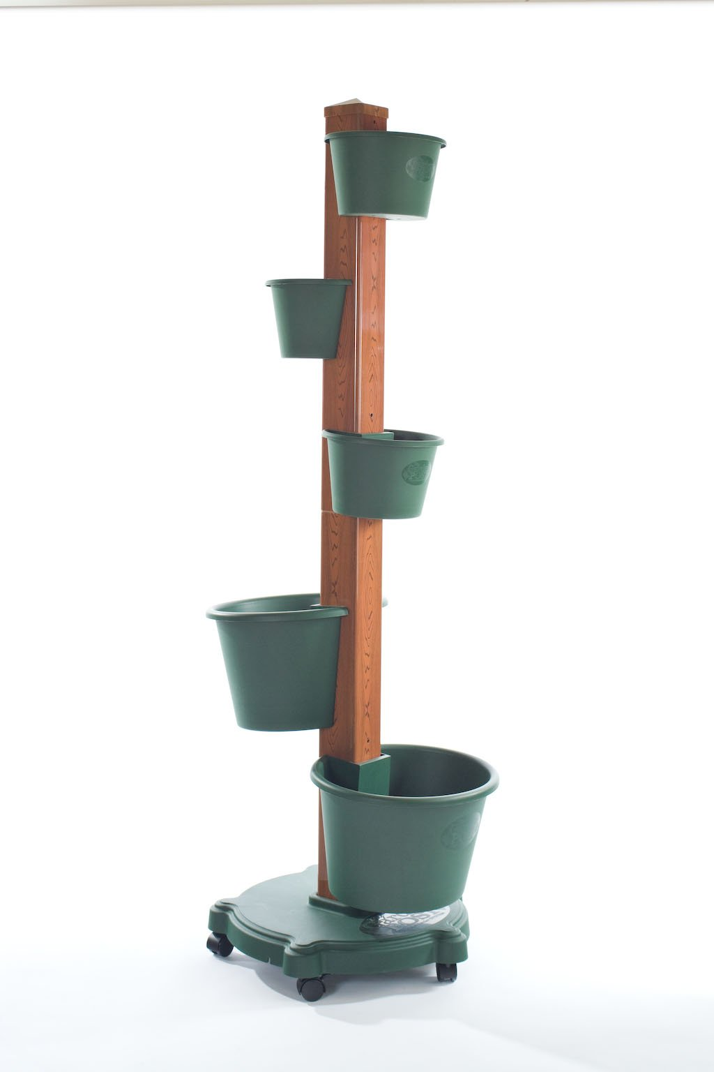 My Garden Post 5 Planter Vertical Gardening System with Drip Irrigation System Finish, Hunter Green by My Garden Post