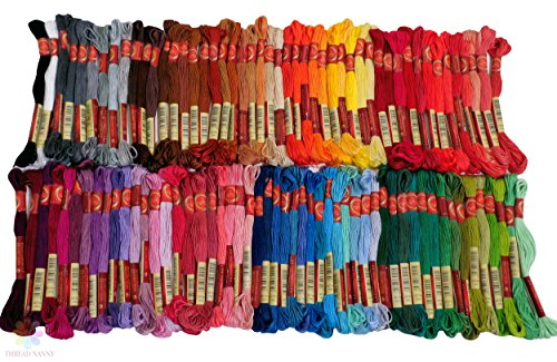 - 100 Colors Hand Embroidery Floss Cross Stitch Threads skeins Full range of Colors Friendship Bracelets Floss Crafts Floss from ThreadNanny