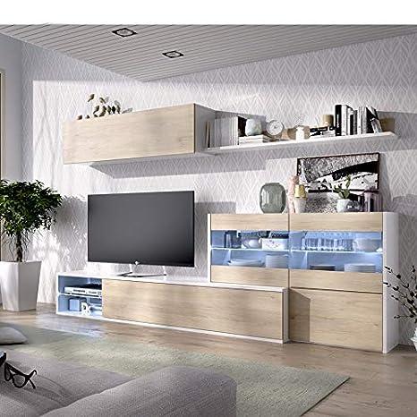 HABITMOBEL Mueble de Comedor, Mueble Salon con Leds, Medidas ...