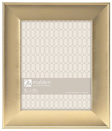 Malden International Designs Gilded Collins Moulding Scoop Picture Frame, 8x10, Gold - Gilded Frame