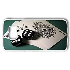 Samsung Galaxy S6 Case, Cards And Dice Custom Case Back Cover for Samsung Galaxy S6 PC Transparent Plastic