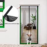 Magnetic Screen Door, Hip2cart Screen Door Magnets Heavy Duty Reinforced Mesh Full Frame Velcro Fits Door Size up to 35×82 Inch