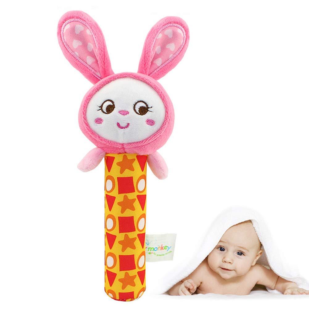 SDGDFXCHN 1 STÜCKE Cartoon Stofftier Baby Weichem Plüsch Kleinkinder Hand Rassel Squeaker Spielzeug