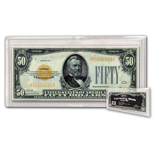 BCW 1-DCS-LB Deluxe Currency Slab Large Bill