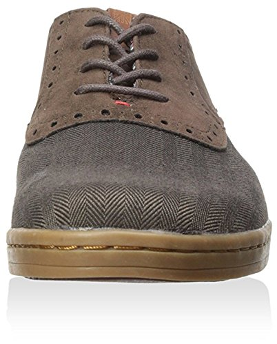 Ben Sherman Heren Presley Suède Mode Sneaker, Choc / Tweed, 40 M Eu / 7 M Us