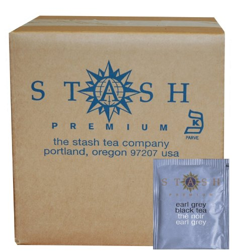 Stash Tea Earl Grey Black Tea, 100 Count Box of Tea Bags in Foil