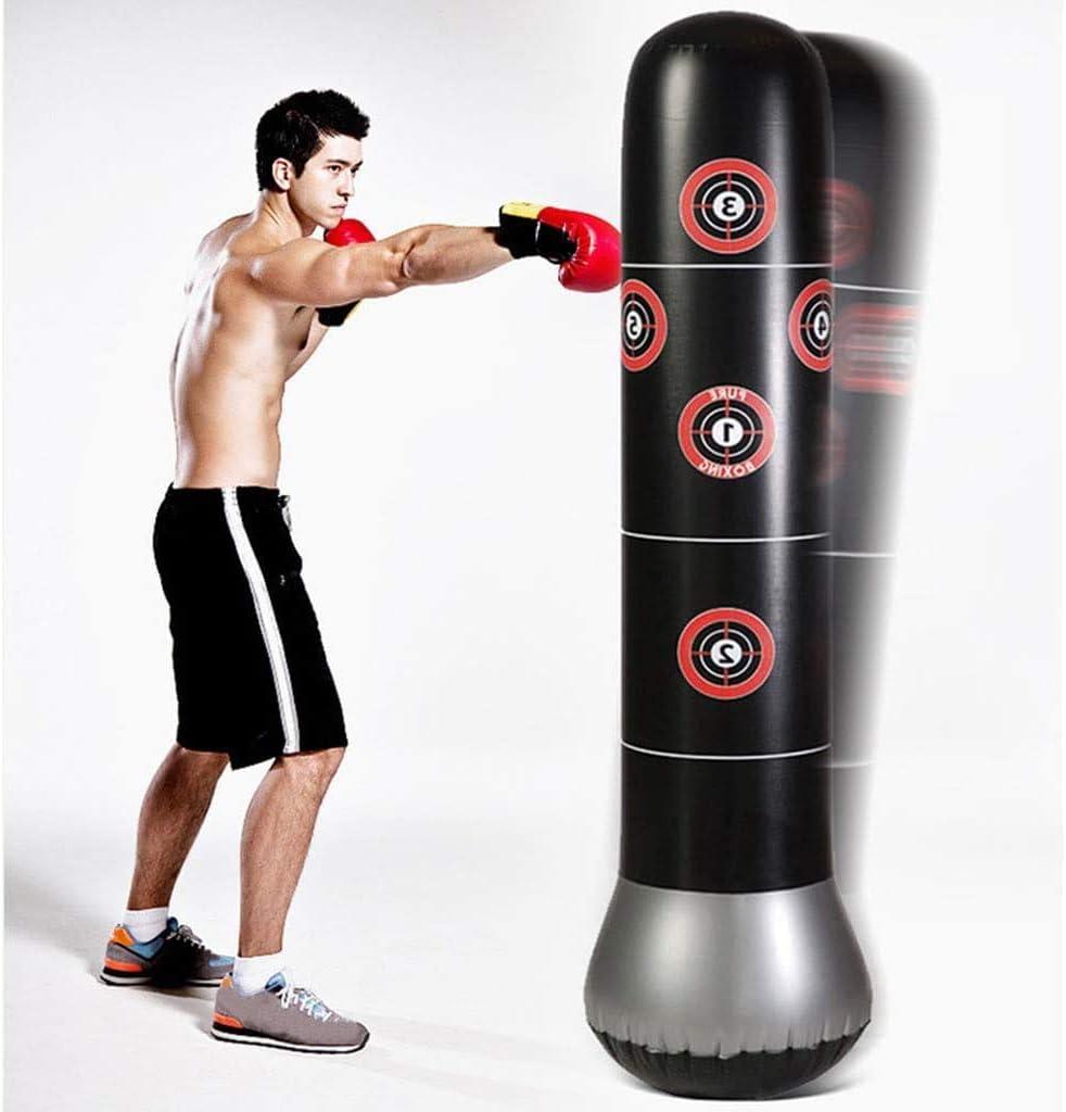 Ducomi Sac de Boxe Gonflable Maison Fit Boxing Entra/înement Muay Thai Sacs /à Base deau pour Adultes et Enfants Sac de Boxe et Pompe pour Gonfler Gym Set de Boxe Kickboxing