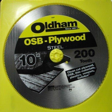 Oldham 10'' x 200 Tooth OSB Plywood Saw Blade (Oldham Circular Saw)