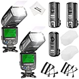 Neewer NW620 Manual Flash Speedlite Kit for Canon Nikon Panasonic Olympus Pentax and Other DSLR Cameras, Includes:(2)NW620 GN58 Flash, 2.4G Wireless Trigger,(2)Hard Diffuser, Microfiber Cleaning Cloth
