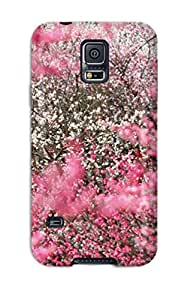 Durable Defender Case For Galaxy S5 Tpu Cover(flower Fall)