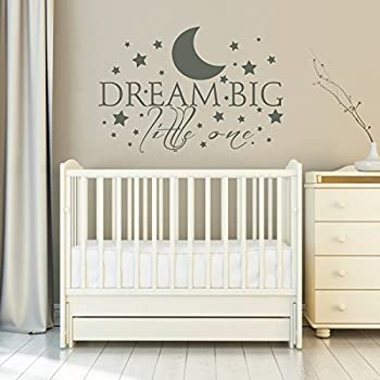 Amazoncom Dream Big Little One Nursery Wall Decal Quote - Nursery wall sticker quotes