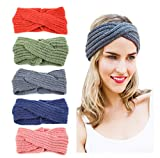 head wrap knit - Knit Headband Crochet Head Wrap Pony Tail Head band Messy Bun Hat Gift for Her