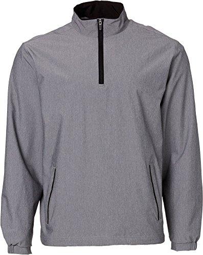(Walter Hagen Men's Front 9 Half-Zip Golf Pullover, (Black, XL))