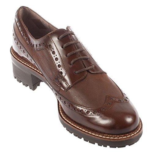 Wonders - Zapatos de cordones para mujer blank marrón