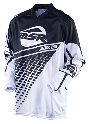 - MSR Youth Axxis Jersey, Distinct Name: Black/White, Gender: Boys, Primary Color: Black, Size: XL, Size Segment: Youth, 352742