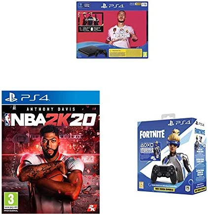 PlayStation 4 (PS4) Consola de 1TB + FIFA 20 + NBA 2k20 + Sony ...
