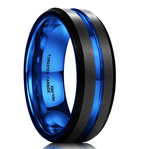king-will-mens-7mm-black-matte-finish-tungsten-carbide-ring-blue-beveled-edge-wedding-band9