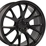 20X9 Wheels Fit Dodge, Chrysler - Challenger, Charger Hellcat Style Rims - Black - SET