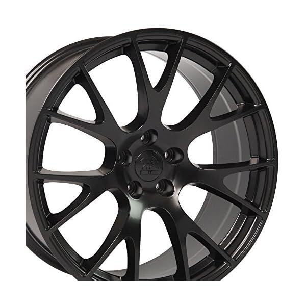 OE-Wheels-20-Inch-Fits-Dodge-Challenger-Charger-SRT8-Magnum-Chrysler-300-SRT8-Hellcat-Style-DG15-20X9-Rims-Satin-Black-SET