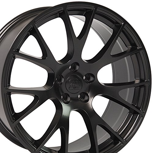 OE Wheels 20 Inch Fits Dodge Challenger Charger SRT8 Magnum Chrysler 300 SRT8 DG15 Hellcat Style Satin Black 22x9 Rim Hollander 2528