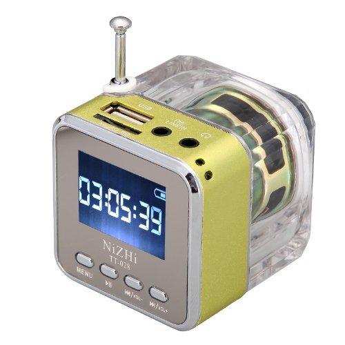 Generic Mini Digital Portable Music MP3/4 Player Micro SD/TF USB Disk Speaker FM Radio (Green).