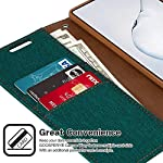 ClickCase Canvas Series, Cloth & Pu Leather Wallet Flip Case Kick Stand Magnetic Closure Flip Cover for Samsung Galaxy…