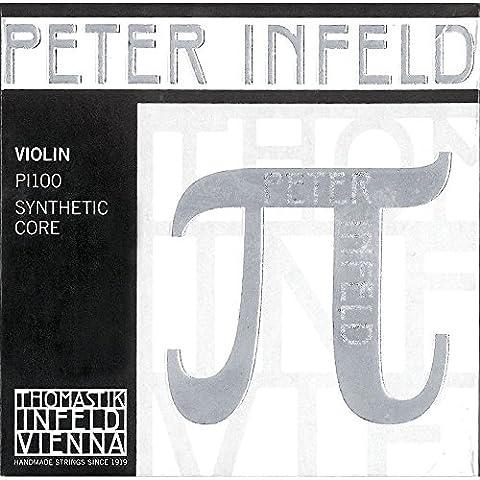 Thomastik Peter Infeld 4/4 Violin Strings Set with Platinum E (Violin Strings For 3 4)