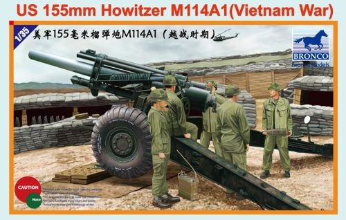 Bronco Models 1/35 US 155mm Howitzer M114A1, Vietnam War