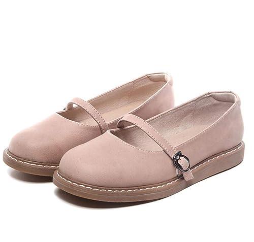 Mocasines para Mujer Otoño Vintage Literario Dulce talón Plano Mary Jane Zapatos: Amazon.es: Zapatos y complementos