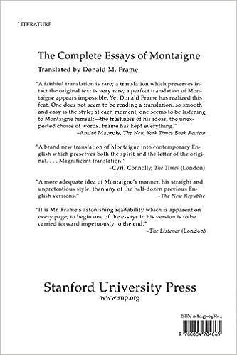Donald Frame Montaigne | Frameswalls.org