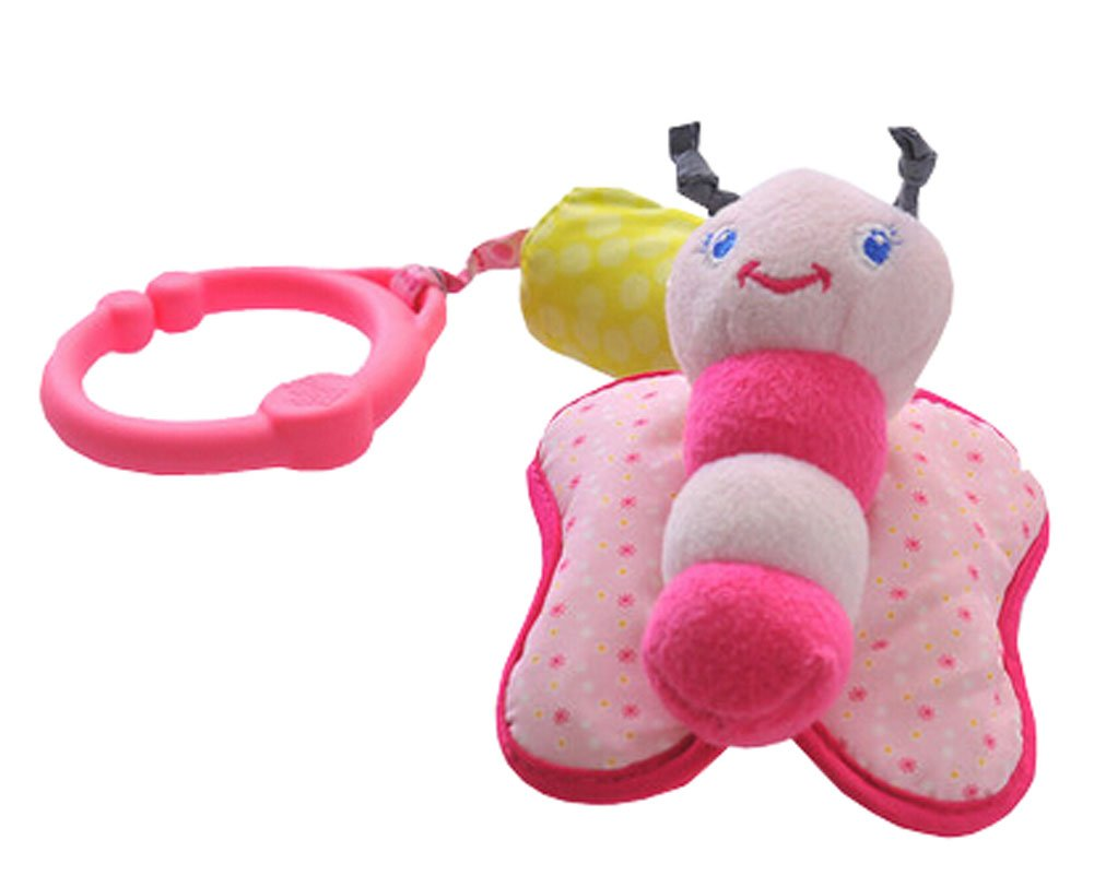Baby Stroller Hanging Handbell Rattle Teether Soft Plush Toy Cute Toy FI