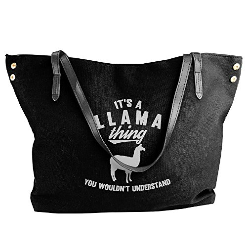 Tote Black Understand A Large Shoulder It's Wouldn't Thing Llama Canvas Bags Handbag Messenger You Women's ZPwqE6Fn