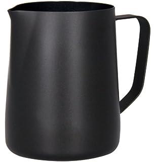 Hillento café espresso jarro de leche, leche en polvo de acero macchiato capuchino latte arte para preparar tazas de jarra de acero…